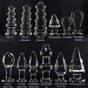 Glatte große Glas Butt Plug Dildo Anal Anal Plug Spielzeug Auswahl von Stile (UK)