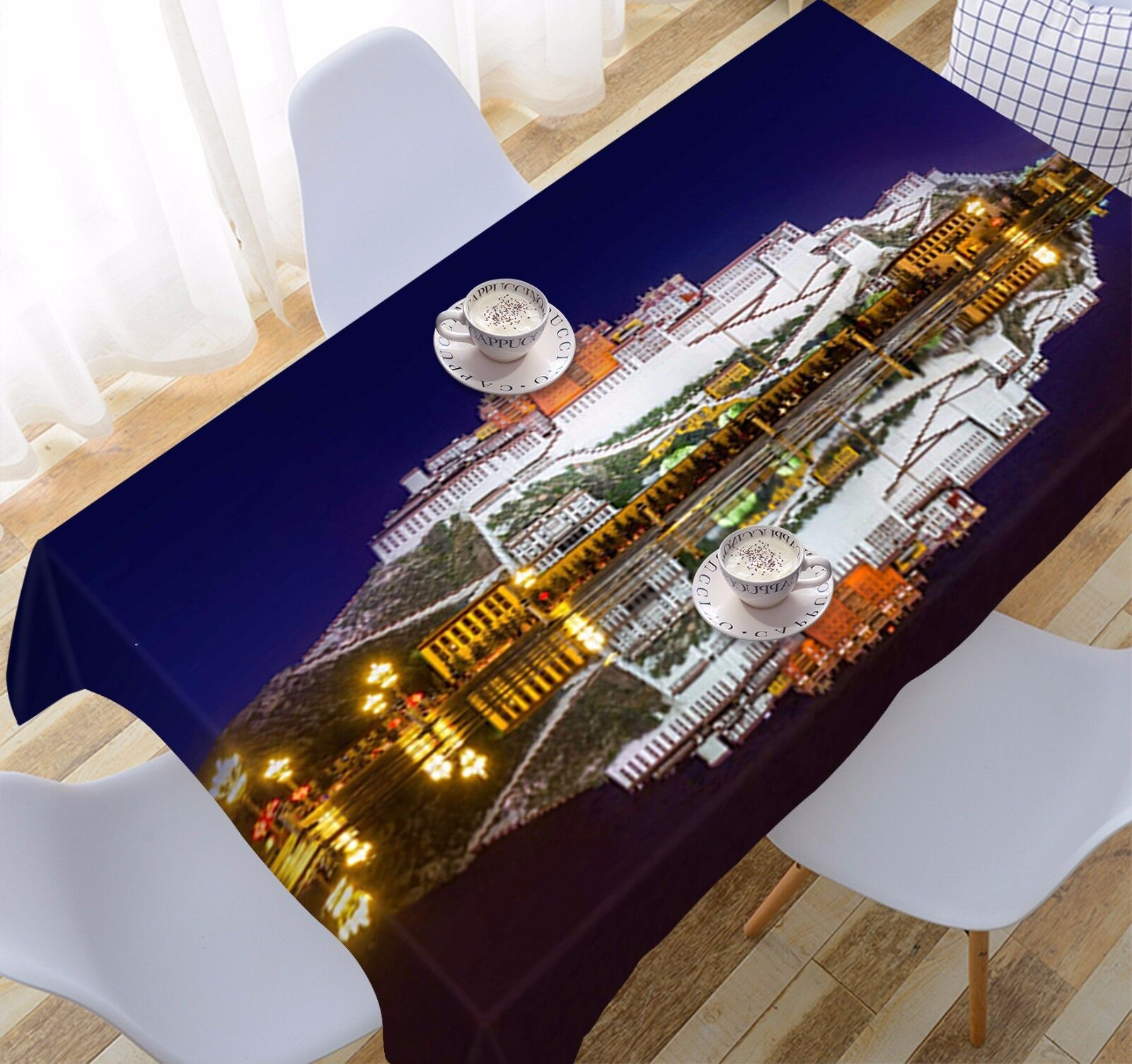 3D Potala Palace Tablecloth Table Cover Cloth Birthday Party Event AJ WALLPAPER