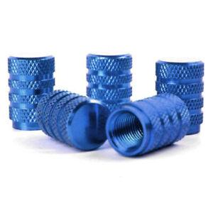 4X-5-pieces-bleus-Bouchons-de-valve-de-pneu-de-voiture-en-alliage-bouchons-de-2T