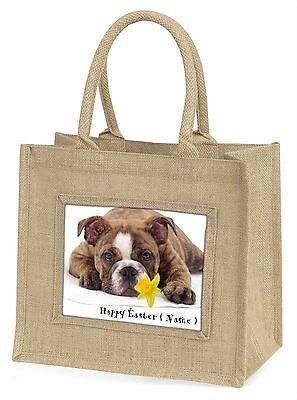 Personalisiert Bulldog Große Natürliche Jute-einkaufstasche Weihnachten,