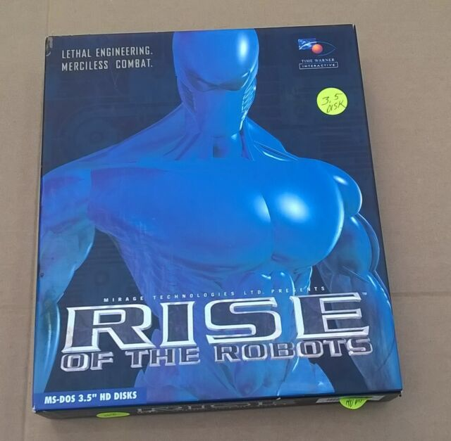 "Rise of the Robots by Mirage Tech. 14 X Disks 3.5"" IBM & Compatibles Big Box"
