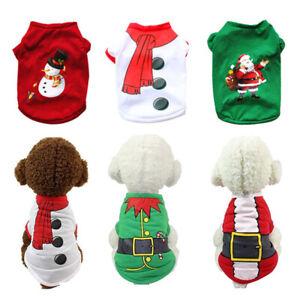 Christmas-Santa-Pet-Clothes-Cotton-Warm-Coat-Dog-T-shirt-Puppy-Pullover-Costume