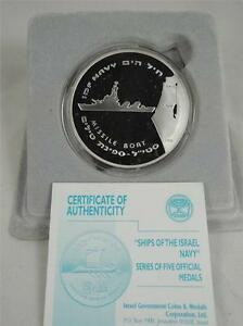 2005-SHIPS-OF-THE-ISRAEL-NAVY-IDF-MISSILE-BOAT-STATE-MEDAL-50mm-49gr-SILVER-COA