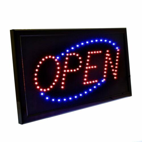 Alpine Industries Red /& Blue LED Lighted Business Shop Cafe Hanging Open Sign