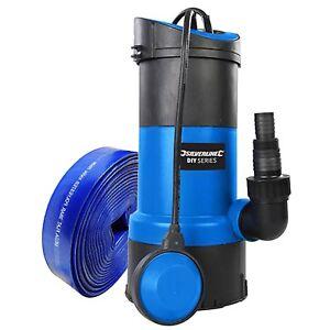 Submersible Pompe à eau 750 W + 5 M Tuyau Puissant Rapide 13000 Litres-hr Silverline-afficher le titre d`origine 2IQ4Rtqh-07212938-989628506
