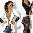2016 Women Jacket Blazer Long Sleeve Knitwear Leather Cardigan Coat Outwear CO99