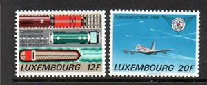 LUXEMBOURG-MNH-1988-SG1223-1224-EURO-CONF-OF-TRANSPORT-amp-25TH-ANV-OF-EUROCONTROL