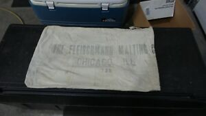 Antique-Vintage-Grain-Sack-Pillow-Primitive-American-Malting-FLEISCHMANN
