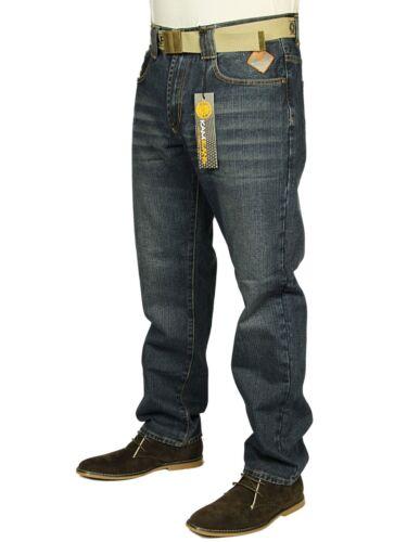 Nuovo da Uomo Denim Jeans Svasati /& Gamba Dritta Stile Semplice Pantaloni Neri