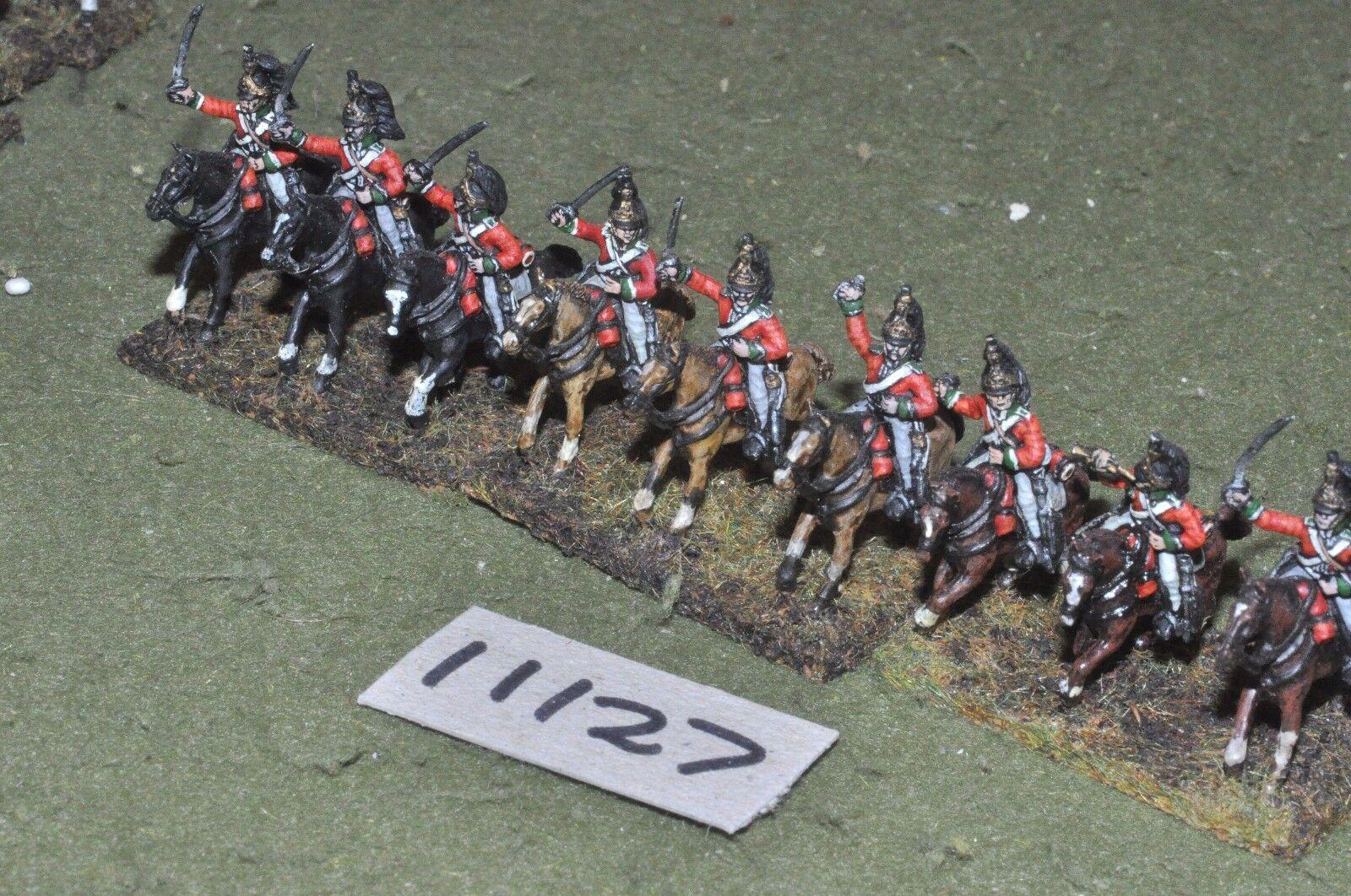 20mm napoleonic   generic - garrison' naploeonic cavalry 9 figs - cav (11127)