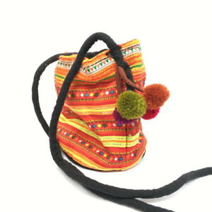 Details about Shoulder hippie bag hill tribe ethnic cross body zipper  fabric accessories Hmong