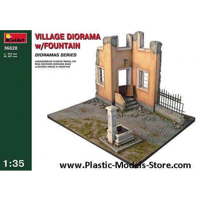 Minikonst 36028 - 1  35 Village Diorama W  Fountain Plastic modellllerler Kit Detalis 73
