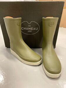 Détails sur Le Chameau Paris faible taille UK 40 UK 6.5 Bottes Vert Tissu Doublé Bottines vente afficher le titre d'origine