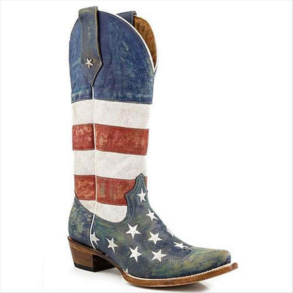09-021-7001-0206 Roper Women's Americana Western Cowboy Boot Snip Toe NEW