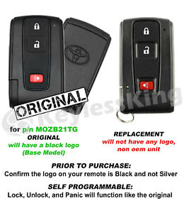 Replacement For 2004 2005 2006 2007 2008 2009 Toyota Prius Key Fob