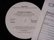 THE WAIKIKIS -Holiday In Hawaii- LP 1971 Palette Promo Archiv-Copy mint