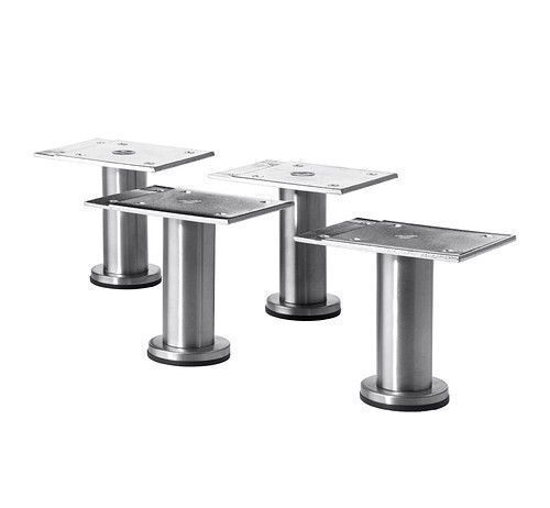 4x Small IKEA CAPITA 8-9cm Stainles Steel Kitchen Cabinet Legs for METOD UK-N786