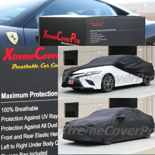 2016 2017 TOYOTA CAMRY BREATHABLE CAR COVER W//MIRROR POCKET BLACK