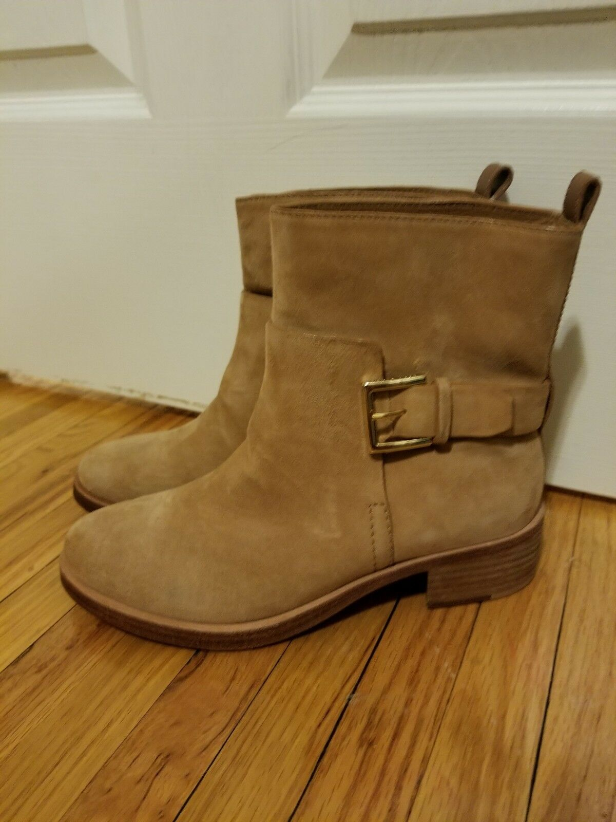 Tory Burch Suede Ankle Bootie, Perfect Sand boots size 5.5