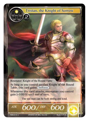 TMS-015 the Knight of Sorrow 1x 1 x FOIL Tristan U x1 Force of WIll ~~~MINT
