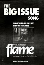 """18/12/93PGN14 ADVERT 7X5"""" THE BIG ISSUE SONG : FLAME"""