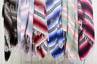 Handmade Mexican Blanket Falsa Beach Blankets Yoga Throw - Pink
