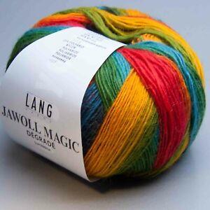100g Nadelstärke 2,5-3,5 Lang Yarns Jawoll Magic Degrade 7 LL 400m