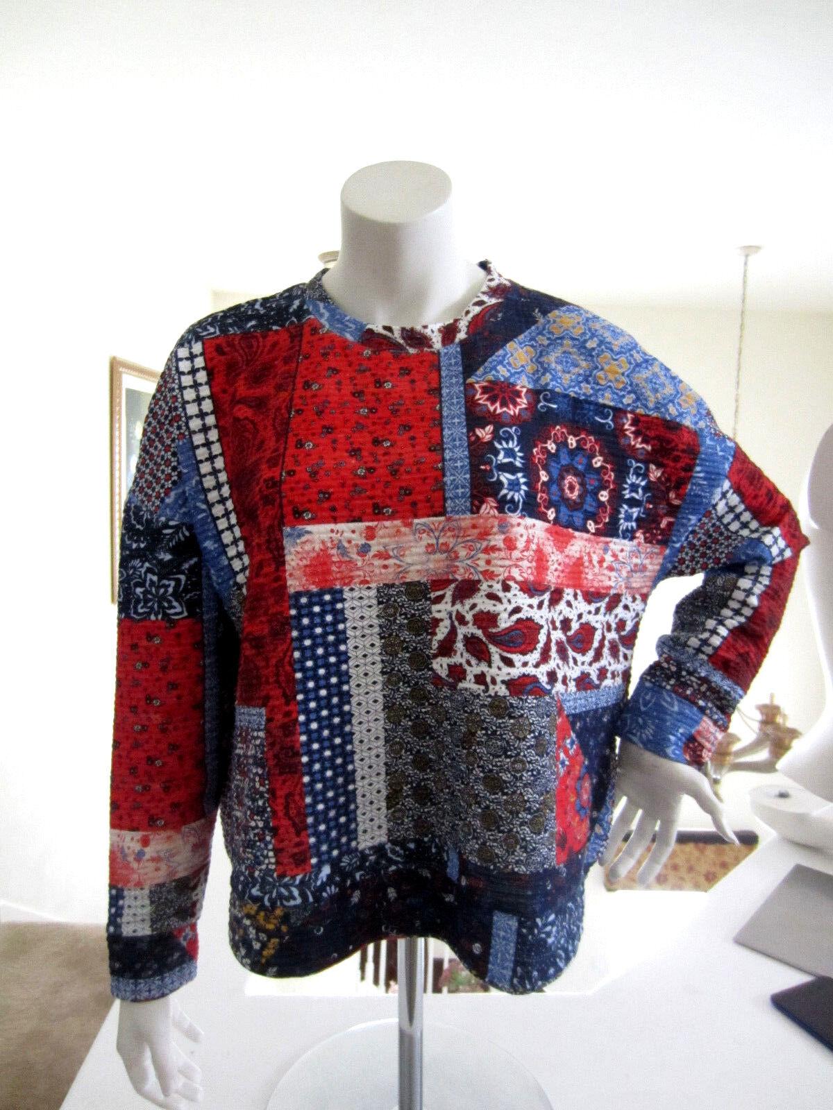 ZARA Trafaluc Women's Art Patch Cotton Blend Boxy Sweater NWT Size M