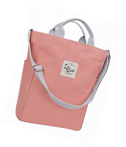 Details About Lily Queen Women Canvas Tote Handbags Casual Shoulder Work Bag Crossbody