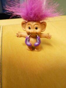 Adroit Vintage Crayon Fin Troll Doll-cheveux Violet-patins à Roulettes-afficher Le Titre D'origine Achat SpéCial