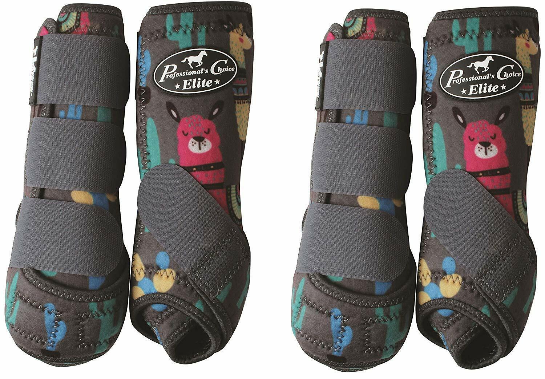 Professionals Choice Equine Sports Medicine Ventech Elite Leg Stiefel, Set de 4