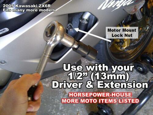20mm 24mm KAWASAKI TYPE MOTOR MOUNT NUT SOCKET TOOL @ 03-19 NINJA ZX10 ZX10R ZX6