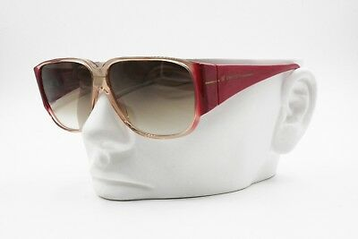 Caritatevole Freedom Made In Italy, Vintage Sunglasses Square Thick Red Arms, Shaded Lenses Alta Qualità