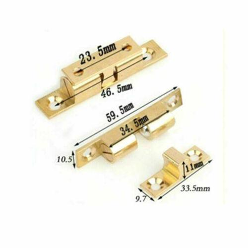 DOUBLE BALL CATCH BRASS Cabinet Cupboard Door Roller Latch 40//50//60//70mm