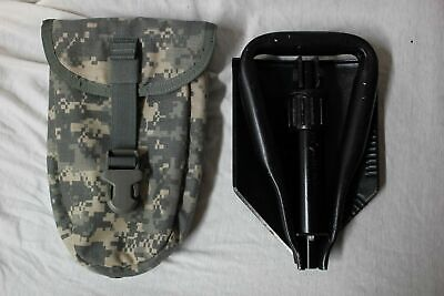 MINT US Army Military AMES Entrenching Folding E-Tool Shovel /& Used ACU Cover