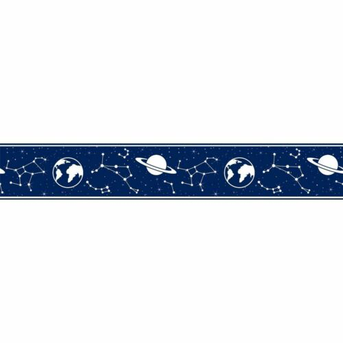 Wallpaper Border Constellation Space Dark Blue 17.5cm wide x 5m long Kids