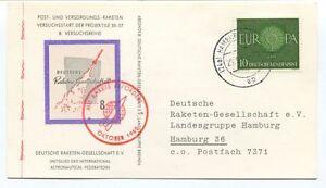 1960 Deutsche Raketen Gesellschaft 8 Befordert Versuchsstart Projektile Hamburg Avoir Une Longue Position Historique