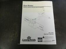 Land Pride Rb0548 Rb0560 Rb1560 Rb1572 Rb1584 Rear Blades Operators Manual 2009