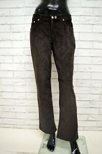Pantalone-TRUSSARDI-Donna-Taglia-Size-46-Jeans-Pants-Woman-Marrone-Costine-Zampa