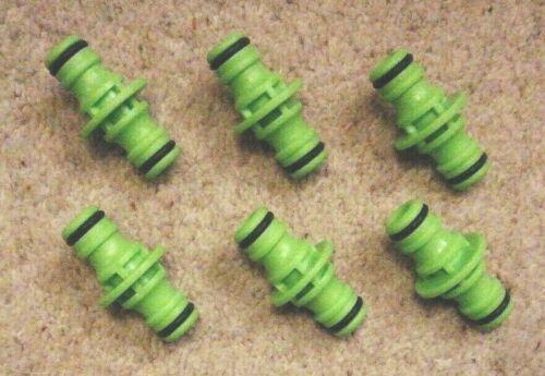 Pack of 6 hosepipe fittings  sold as one lot joiners
