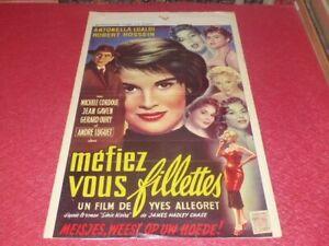 Cinema Plakat Original Belgisches Mefiez You Mädchen Hossein Lualdi Chase 1957