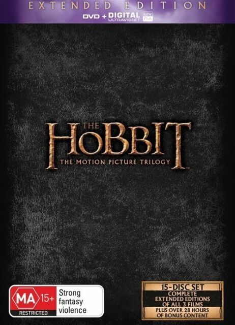 The Hobbit Trilogy (DVD, 2015, 15-Disc Set) Extended Edition BRAND NEW SEALED