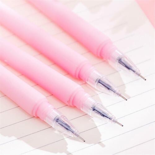 3pcs Creative Romantic Sakura Gel Pen 0.38mm Black Ink Exam Pens Stationery Gift