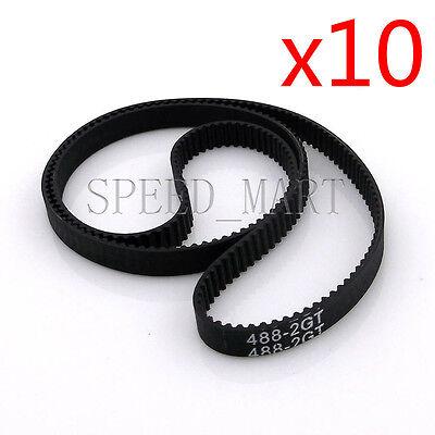 GT2 3D Printer Timing Belt Annular Loop Gear Rubber 6mm Width 2mm Pitch 616-2GT