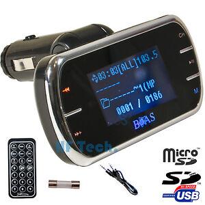 FM-Transmitter-MP3-Player-KFZ-Auto-Radio-Sender-Micro-SD-USB-PKW-LKW-Auto