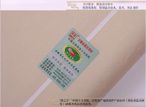 Chinese Handmade Xuan Paper Rice Paper fo painting writing brush Calligraphy