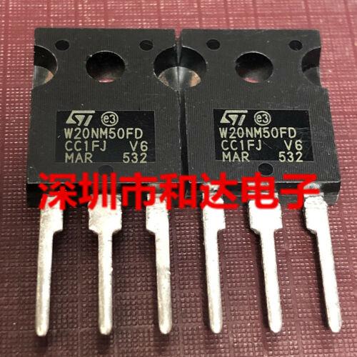 5 x W20NM50FD STW20NM50FD N-Channel MOSFET Transistor TO-247 500V 20A