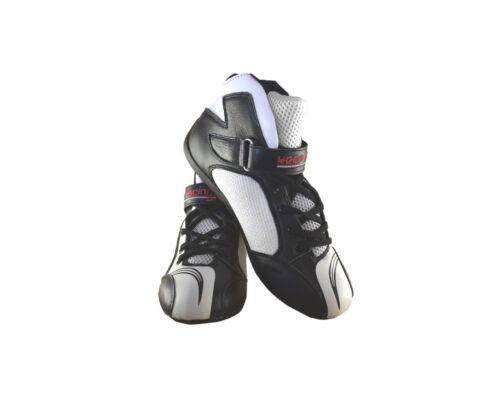 34-49 Gr Kart- /& Motorsportschuh keep-racing® Modell BOOST ONE schwarz // weiß
