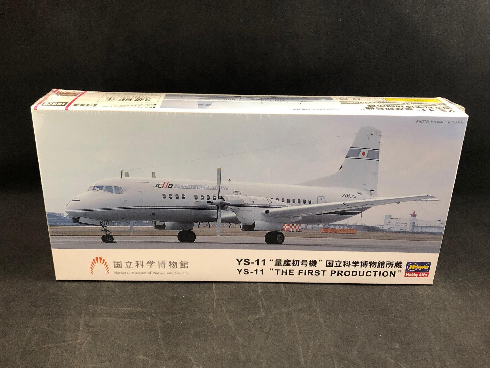 Hasegawa YS -11 Den första produktionen 1 144 skala Plastic modellllerler Kit 10678 NIB