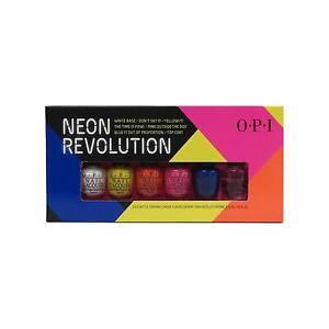 opi nail lacquer mini neon revolution 6ct ebay